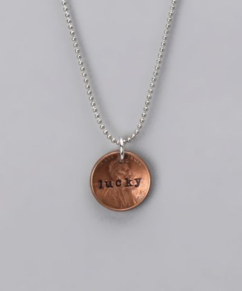 Silver 'Lucky' Penny Necklace