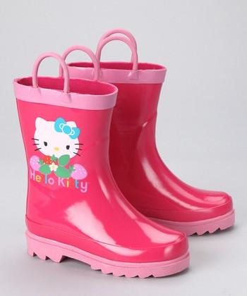 Wonderful Women39s Hello Kitty Zebra Print Rain Boots  BlackWhite Shoes