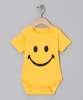 Yellow Smiley Face Bodysuit - Infant