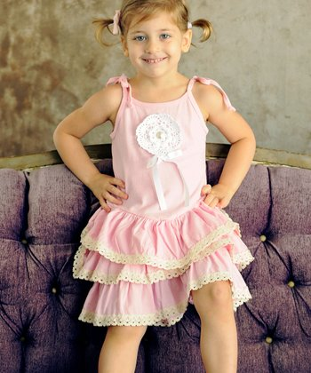 Pink Ruffle Lorette Dress - Toddler & Girls
