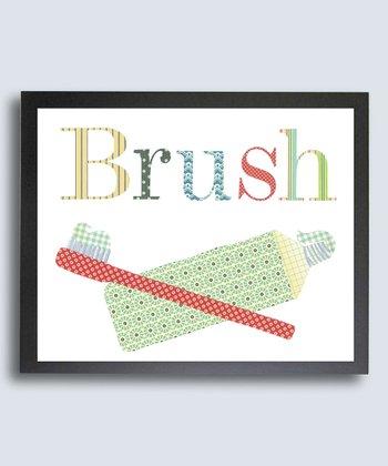 Bathroom Manners 'Brush' Print