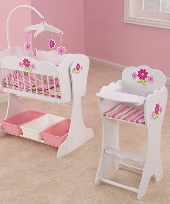 kidkraft floral doll furniture set zulily
