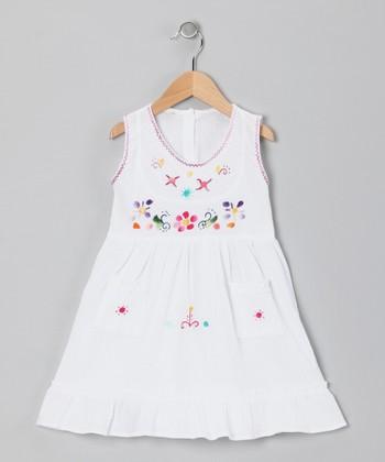 White Leonor Dress - Infant, Toddler & Girls