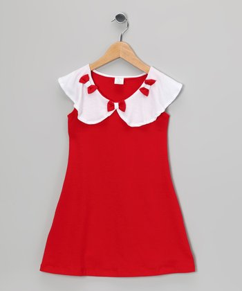 Red Bow Dress - Toddler & Girls