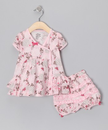 Pink Make a Wish Organic Dress & Bloomers - Infant