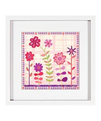 Left Cutesy Flowers Framed Print