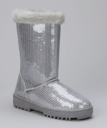 Silver Annabelle Boot