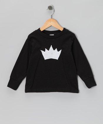 Black Princess Crown Tee - Toddler & Girls