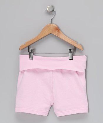 Pink Roll-Waist Skirt