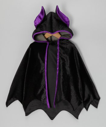 Black & Purple Bat Cape - Boys