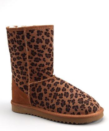 Chestnut Leopard Ally Low Boot - Women