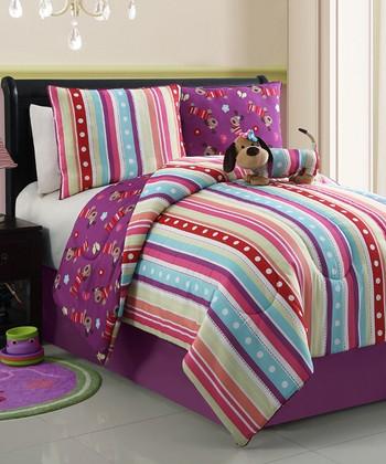 Lily Poodle Reversible Comforter Set