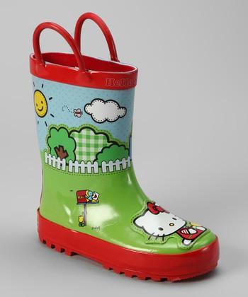 Amazing Hello Kitty Shoes High Women39s Adult Rain Boots Fashion Rainboots Slip