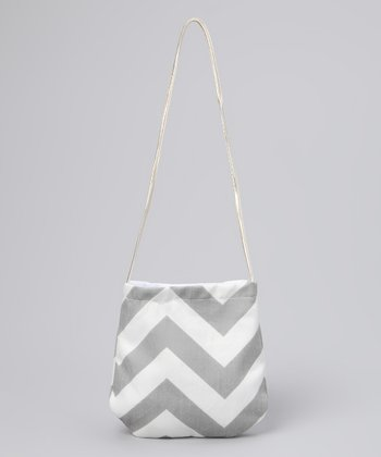 Gray Zigzag Petit Purse