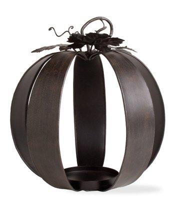 tag Antique Bronze Wide Pumpkin Candleholder
