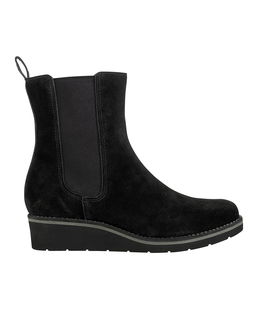 cole haan black suede johanna wedge boot zulily