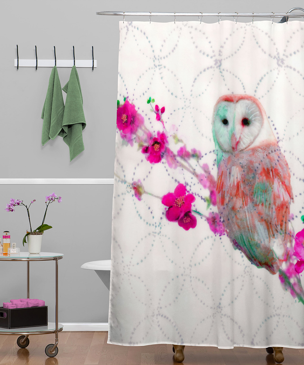 deny designs quince owl shower curtain zulily