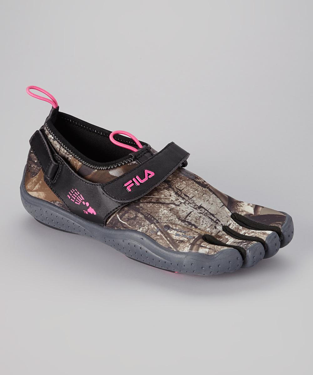 Camo & Neon Pink Skele-Toes EZ Shoe - Women