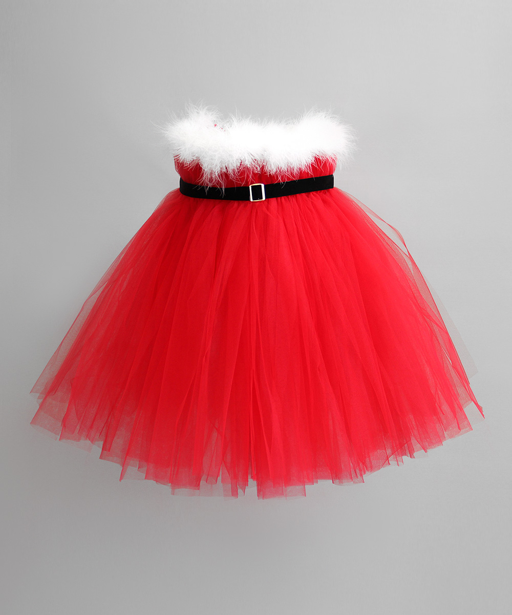 Red santa tutu dress infant toddler amp girls zulily