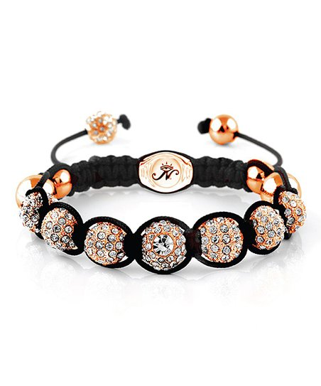 Rose Goldtone & Black Crystal Kikiballa Bracelet Made with SWAROVSKI ELEMENTS