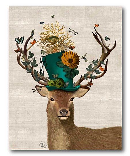 Mad Hatter deer art for the bathroom