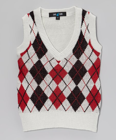Australia Sweater Vest White Argyle Sweater Vest