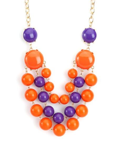 Orange & Purple La Ti Dottie Necklace