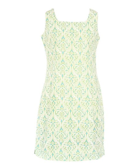 Clare Lime Piper Dress