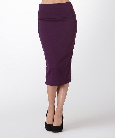 bold beautiful eggplant pencil skirt zulily