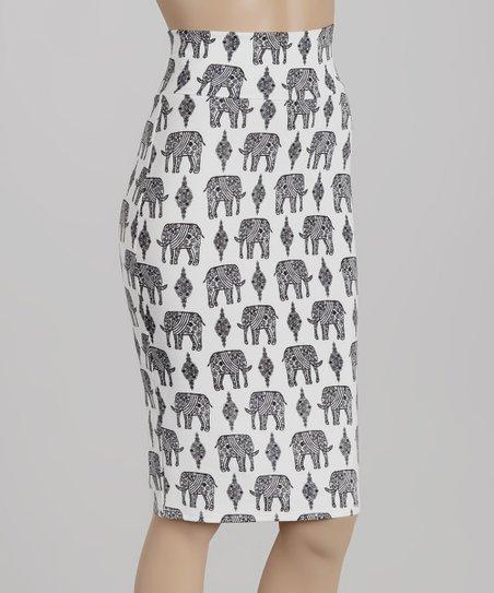 White Elephants Skirt