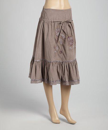 Steel Tie-Waist Peasant Skirt