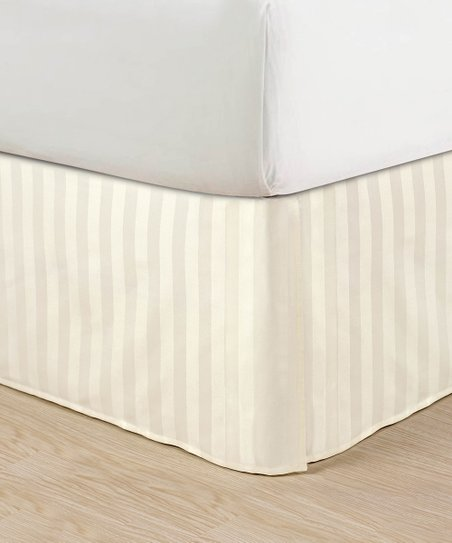 elegance linen ivory stripe pleated bed skirt zulily