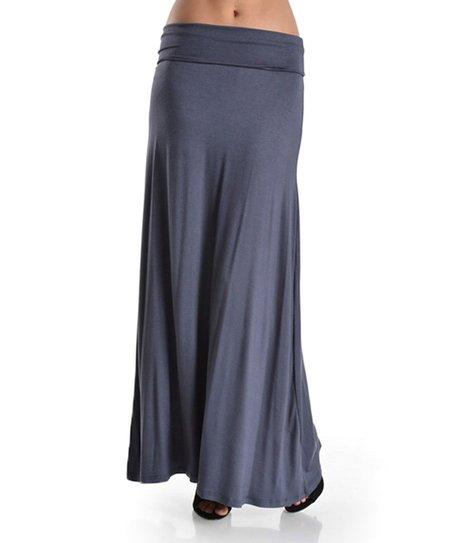 emmas closet gray maxi skirt zulily