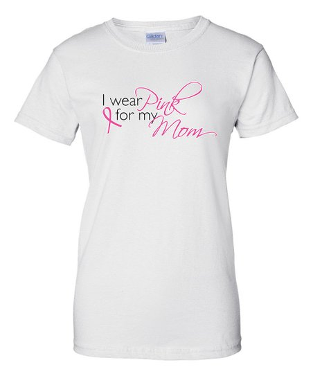 White 'Pink For Mom' Short-Sleeve Tee