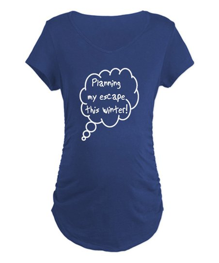 Navy 'Planning My Escape This Winter' Maternity Tee