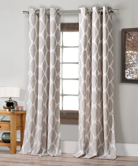 Duck River Textile Taupe Hampshire Ikat Curtain Panel Set Of Two Zulily