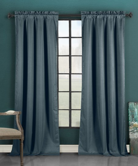 duck river textile blue liam thermal blackout curtain. Black Bedroom Furniture Sets. Home Design Ideas