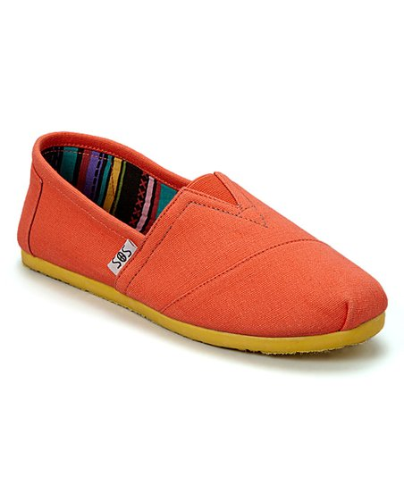 shoes of soul orange yellow solid slip on shoe zulily