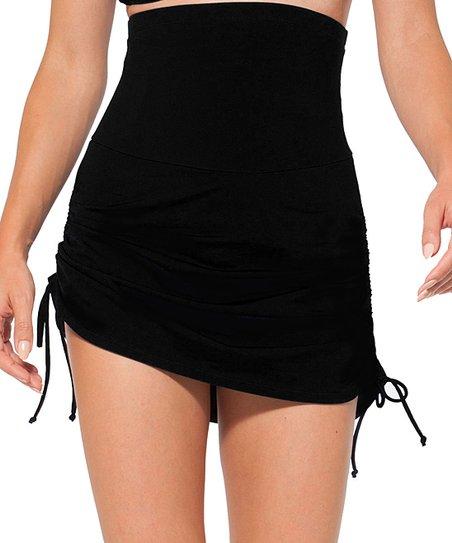 black high waist swim skirt