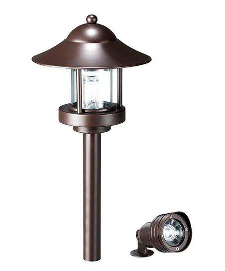 bronze low voltage landscape light set. Black Bedroom Furniture Sets. Home Design Ideas