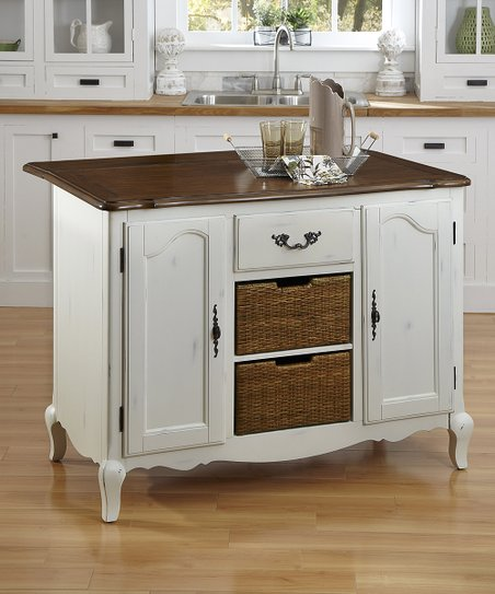 Home Styles White French Countryside Drop Leaf Kitchen