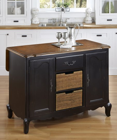 home styles black french countryside drop leaf kitchen