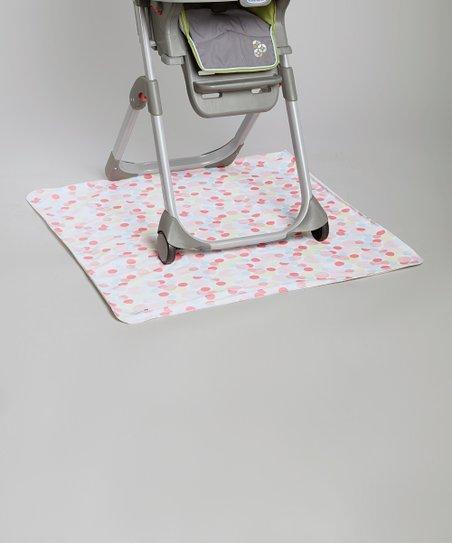 New Gen Baby Red Bubble Make a Mess High Chair Floor Mat