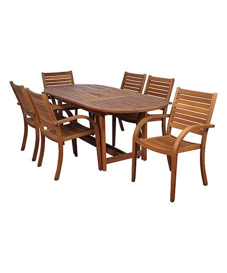 Arizona Seven-Piece Extendable Oval Outdoor Dining Set