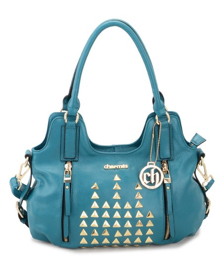 Turquoise Leather Shoulder Bag 72