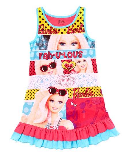 Blue Barbie Nightgown - Girls