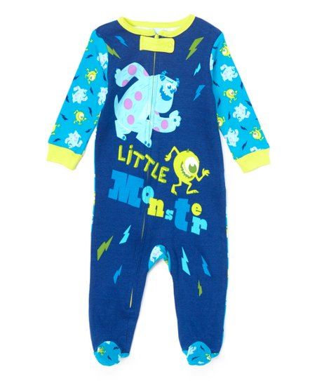 Turquoise Monsters Inc Footie - Infant
