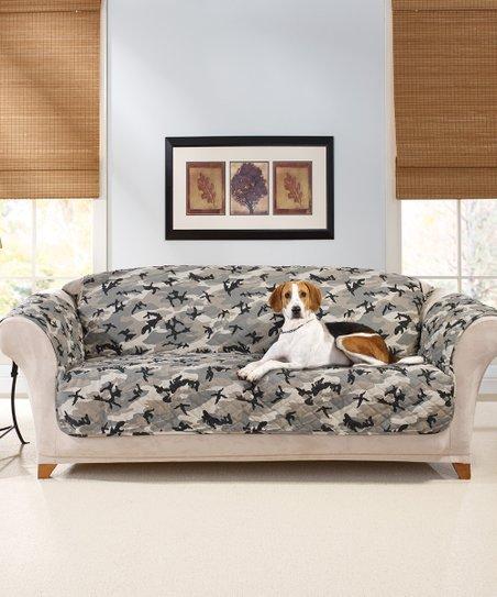 sure fit gray camo sofa cover zulily