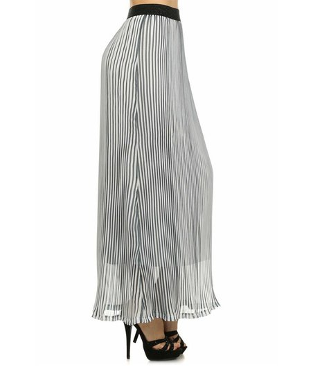 le lis collection white navy pleated maxi skirt zulily