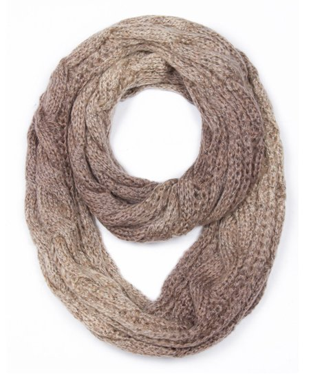 Cable Knit Infinity Scarf Pattern : Jasmine Camel Cable-Knit Infinity Scarf zulily